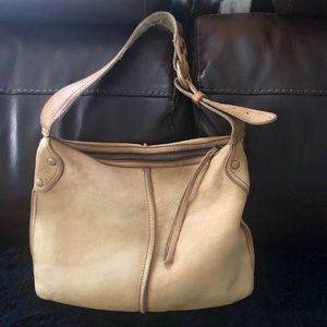 Lucky Brand  light brown leather hobo bag